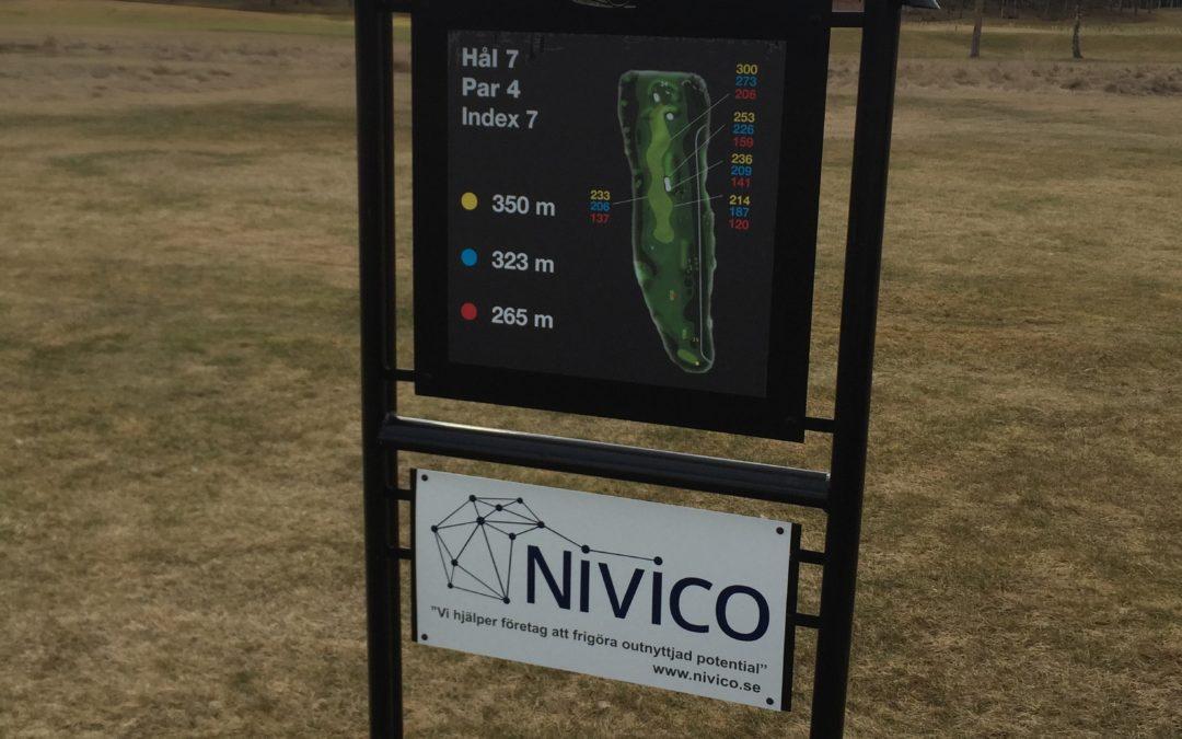 Nivico AB, nu hål-sponsor på Orresta GK.