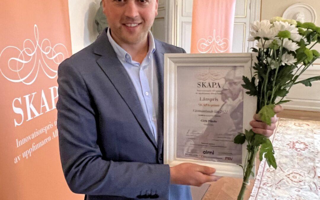Prozaar vinnare av SKAPA-priset Västmanland
